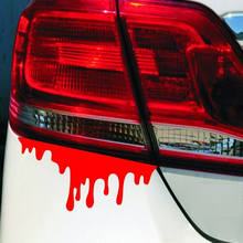 14*5cm Hot Sale Funny Car Stickers and Decals Car Styling Bloody Novelty Auto Tail Decor Vinyl #HP