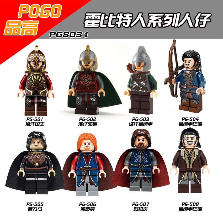 Lord of the rings The hobbit Gandalf Isildur Sauron Legolas Greenleaf los khan sold Minifgures Blocks Models &amp; Building Toy<br><br>Aliexpress