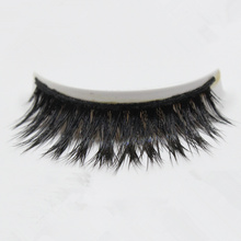 High quality 2pairs/lot 100% Handmade Real Mink hair eye lashes thick crisscross false eyelashes extention maquiagem