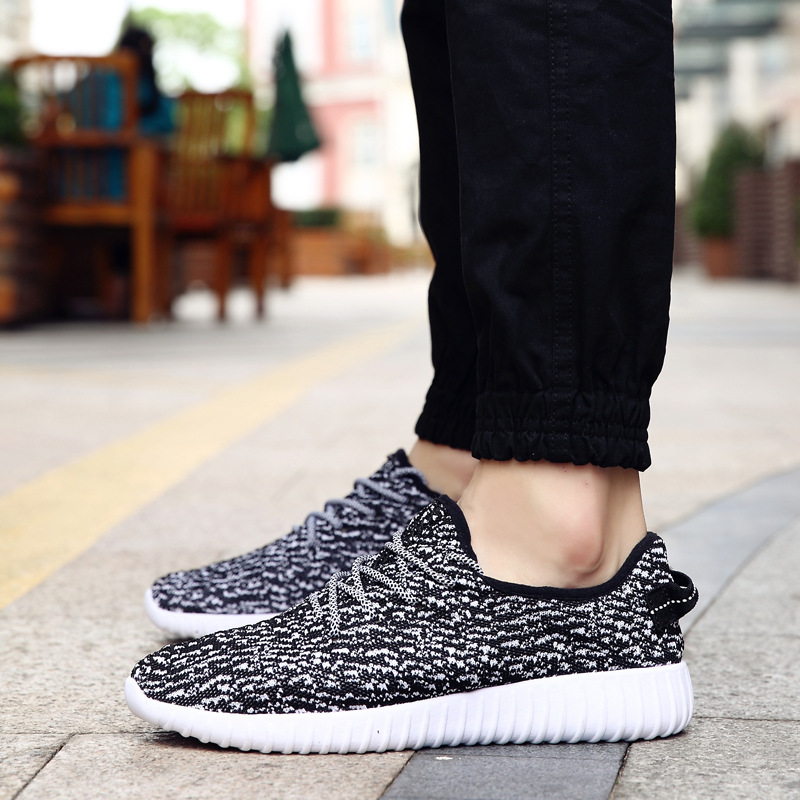 Coconut Shoes 2017  New Fly Woven Casual Shoes Couple Shoes Hot Style Black Gray ColBreathable Walking Shoes male footwear<br><br>Aliexpress