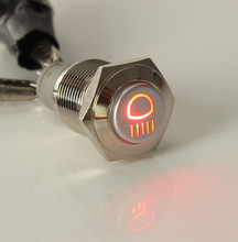 16mm LED Momentary Horn Button Metal 12V Push Button Lighted Switch LED voltage 12V Degree of Protection IP67 Most Popular
