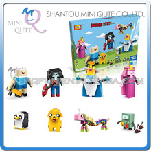 Mini Qute LOZ adventure time ice king Finn Jake BMO diamond plastic cube building blocks bricks cartoon animal educational toy - MINI QUTE PLASTIC BLOCKS & METAL PUZZLE WORLD store