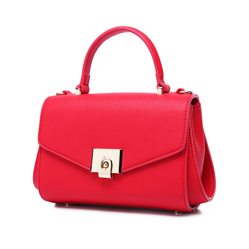 New 2016 Fashion Brand PU leather Women Handbag Europe and America Leather Shoulder Bag Casual Women Bag<br>