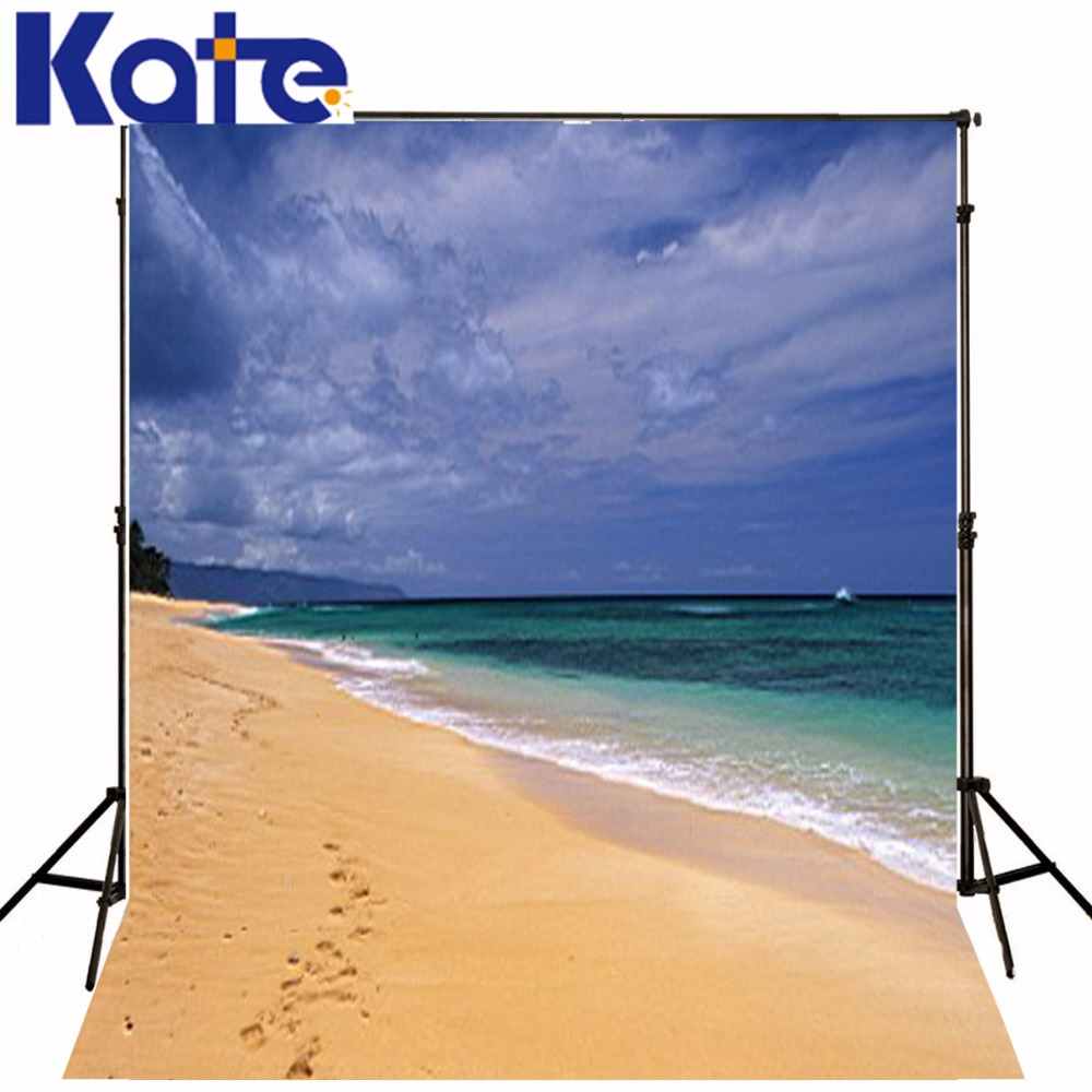 New Arrival Background Fundo One Set Of Footprints Beach 6.5 Feet Length With 5 Feet Width Backgrounds Lk 2908<br>