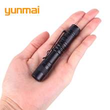 YUNMAI Portable Mini Penlight XPE-Q5 LED Flashlight Torch Pocket Light 1 Switch Modes Outdoor Camping Light USE AAA(China)