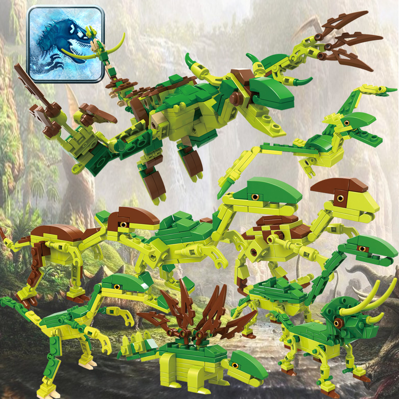 COGO Jurassic World Educational Building Blocks Toys For Children Kids Gifts  Dinosaur Compatible With Legoe<br><br>Aliexpress