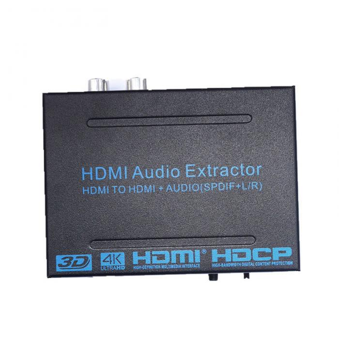 New HDMI TO HDMI  Audio Extractor Converter Adapter SPDIF + R/L 4K ARC EDID Setting Audio Extractor 4K*2K   XXM8