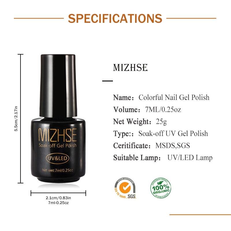 Aliexpress.com : Buy MIZHSE UV Nail Gel Lacquer Nail Art French ...