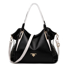 Black White Women Leather Handbag Wholesale Splice Hand For Women Bag Luxury Famous Brand Shoulder With Crossbody Bag AWM124