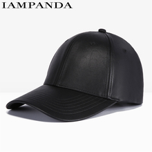 Iampanda Limited Solid Brand 2017 New Winter Pu Men's Baseball Caps Sun Hat Outdoor Sports Cap Snapback Hats For Youth Leisure