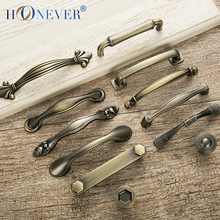 5pcs Antique Door Handles Metal Drawer Pulls Vintage Kitchen Cabinet Handles and Knobs Furniture Handles