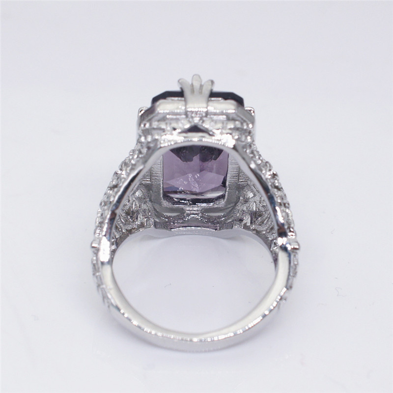 1pc Women Luxury Amethyst Stone Alloy Ring Wedding Engagement Jewelry Size 5-12 Jewelry & Watches