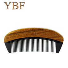 YBF 2017 NEW HOT FASHION green sandalwood ox horn combs sales genuine Quality manufacturers assurance Magic Hair makeup brushes