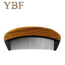YBF 2017 NEW HOT FASHION green sandalwood ox horn combs sales genuine Quality manufacturers assurance Magic Hair makeup brushes(China)