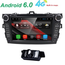 Quad Core Car DVD Player Android 6.0  1024*600 for Toyota Corolla 2007-2011 Car Stereo GPS Video Player (DTV DAB+ Optional)