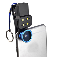 Selfie Flash Light with Wide Angle Lens Phone Lens  198 Degree Fisheye Lens for iPhone7/7Plus Andriod Smartphone