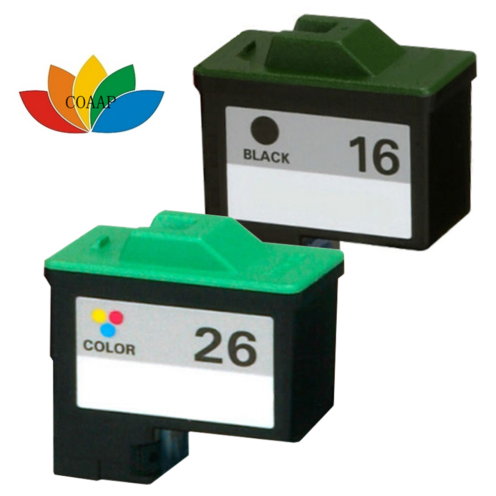 2X Compatiblle #16 #26 Ink cartridge for Lexmark 16 26 10N0016 10N0026 Z25 Z611 X1150 X1270 X2240 Z515 Z25 Z25L Z13 Z23 Z23e Z24<br><br>Aliexpress