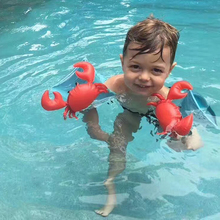 2pc/set Flamingo Crabby Baby Inflatable Swim Arm Band Infant Float Swim Trainer Kids Arm Float Ring Swimming Pool Accessories