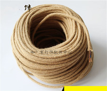 5m/lot Edison Vintage Round Electrical Wire Loft Rope Cable Retro Textile Braided Cable  Wire Lamp Cord 2*0.75mm rope cable