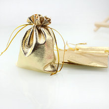 Gold/Silver 50pcs/lot Bags Favor Wedding Christmas Party Gift Bag Jewelry Packaging Bags & Pouches 7x9cm 9*12cm