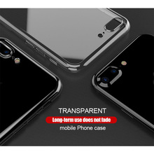 Transparent Clear Soft Phone Case For iPhone 5 6 6s 6 plus 6s 8 plus Case Back Cover Silicon TPU Coque For iphone 7 8 plus Cases(China)