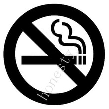 No Smoking Signs Car Stickers Cartoon Car Sticker Decals Body Decoration Black White