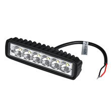 1PC Universal Car Boat Truck 18W 6 LED Light Work Bar Lamp Driving Fog Offroad SUV 4WD Automobile LED Light Wholesale(China)