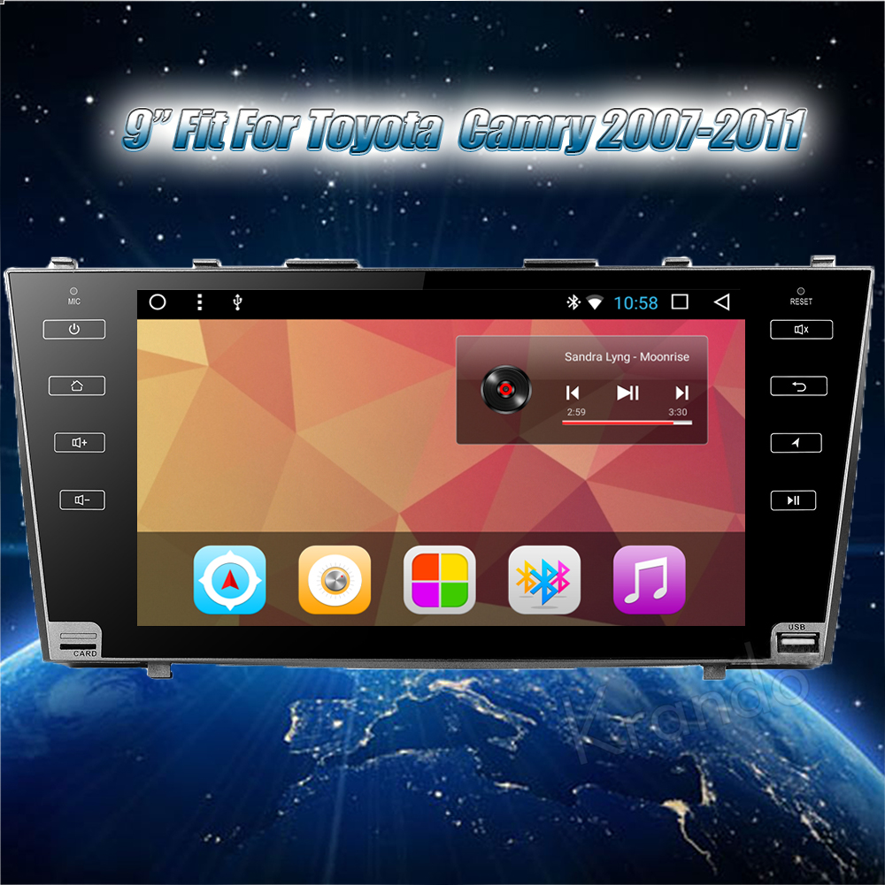 Krando Android car radio gps navigation multimedia system for toyota Camry 2007 2008 2009 2010 2011 (1)