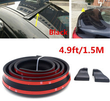 Soft Black Car Rear Spoiler 40mm Width 1.5m Length Exterior Rear Spoiler Kit FOR Audi A4 A6 A1 A3 A5 A8 A7 S1 S3 S4 S6 S7 S8 S5