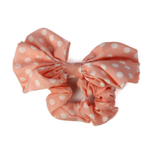 IMC Big Rabbit Ear Bow Headband Ponytail Holder Hair Tie Band (Pink)