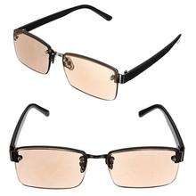 High Quality Unisex Brown Crystal Half Rimed Office Working Reading Glasses Sunglasses Spectacles