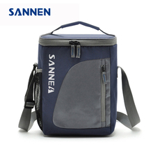 SANNEN 8.8L Thermal Cooler Insulated Waterproof Lunch Box Storage Picnic Bag Pouch Portable Cooler Bags Gray for Sandwich Snack(China)