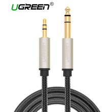 Ugreen 3.5mm to 6.35mm Adapter Aux Cable for Mixer Amplifier Gold Plated 3.5 Jack to 6.35 Jack Male Audio Cable 10m