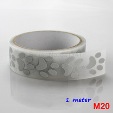 25mm x 1 Meter High Visibility Safely Silver Reflective DIY Tape Iron On Fabric Clothes Heat Transfer Vinyl Film M20(China)