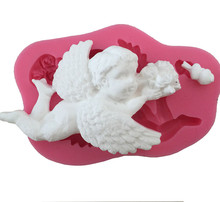 Cupid Angel Baby Silicone Cake Mold , Kitchen Baking  Mould For Chocolate Clay Cookie Candy Fondant Cake Decorating Tools DIY