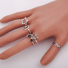 susenstone 2017 Hot Sell High Quality Simple Jewelry Hollow Out Design Finger Knuckle Ring Jewelry For Women Jewelry Wholesale