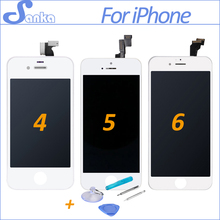 SANKA AAA For iPhone 4 A1332 4S 5S 5C 5 6 6Plus LCD Touch Screen Display Digitizer Replacement Assembly Mobile Phone Parts(China)