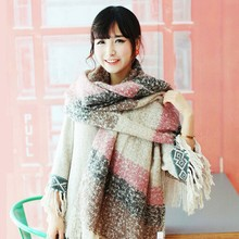 Autumn Winter Women Ladies Long Soft Thicken Mohair Scarf Wrap Warm Large Shawl Scarves Factory Price