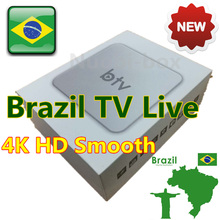 [Genuine]BTV VS HTV 5 BOX Brazilian Portuguese TV Internet Streaming Box Live TV Movies Brazil Media Player