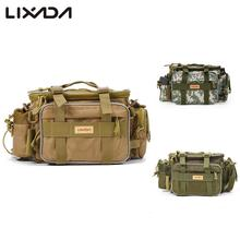 Lixada 40 * 15 * 19cm Fishing Bag Multi-function Fishing Tackle Bag Waterproof Canvas Waist Fishing Lure Bag Shoulder
