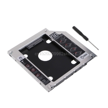 "Second HDD Caddy SATA 2.5"" HDD SSD 9.5mm Enclosure For Apple Macbook DVD CD ROM #H029#"