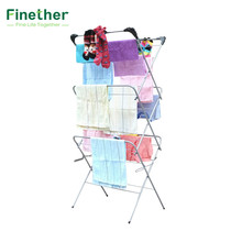 Finether 3-Tier Folding Concertina Clothes Airer Household Essentials Folding Clothes Drying Rack for Hanger Shelf Cloth Towel