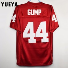 YUEYA 1994 Movie Jerseys #44 Gump American Football Jersey Mens Cheap Red S-3XL