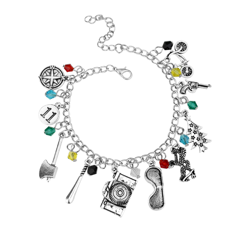 dongsheng Stranger Things Charm Bracelet gun,bicycle,camera fashion Accessories Bracelets& Bangles Crystal Beads -25