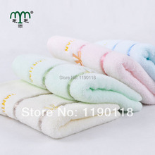 2017 New Style 2PCS 100% Cotton Towel Thicken Absorbent Soft Hand Towels Solid Drying Face Cleaning Towels Striped Washcloths