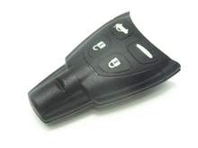 Best quality Soft pad Remote Key Shell fit for SAAB 9-3 9-5 93 95 2009 Plus Smart Key Case 4 BTN Fobkey with sticker