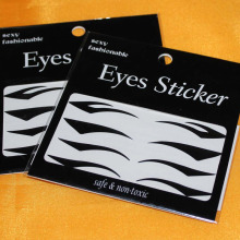Hot Sale 4 Styles Black Temporary Instant Tattoo Transfer Eyeshadow Eyeliner Eyes Sticker
