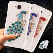 For Huawei Honor 4C Pro Fashion 12 mold peacock rhinestone cell phone hard case for Huawei Y6 Pro 5.0 inch cases (not honor 4C(China)