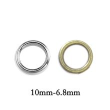 200pcs Outside 10mm Inside 6.8mm Thick 1.5mm Wholesale Fashion Silver Plated Bronze Close Jump Ring For Jewelry DIY Findings(China)