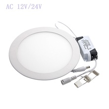 AC 12V/24V LED Downlight 3W- 25W Round Ultrathin SMD 2835 Power Driver Ceiling Panel Lights Cool/Natural/Warm White +Driver(China)